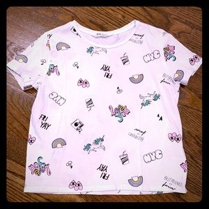Girls H&M Trendy T-Shirt with Icons